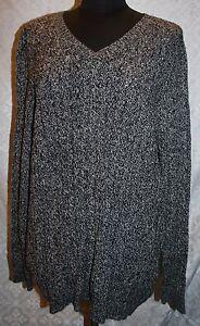 CROFT-amp-BARROW-donna-taglie-1-x-nero-e-bianco-DONNA-COMODE