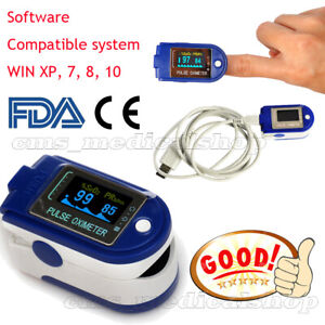 Nuevo-Fingerspitze-Pulsoximeter-CD-Software-oximetro-de-UCB-azul