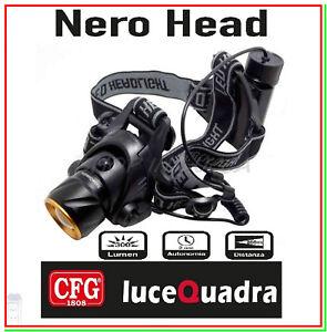 torcia-frontale-testa-led-cree-5w-caccia-pesca-escursioni-speleologo-NERO-HEAD