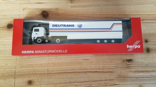 "Herpa 312127-1//87 Volvo F 12 Jumboplanen-Sattelzug /""Deutrans/"" Neu"