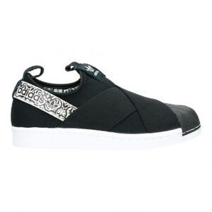 adidas Originals Superstar Slipon W Black White Women Casual Shoe ... d22bf513a