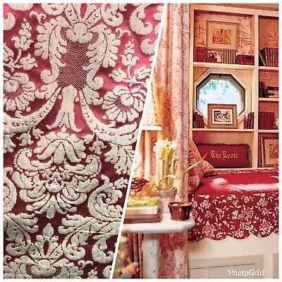 SWATCH 100/% Silk Taffeta Interior Design Fabric Damask Brocade French Yellow