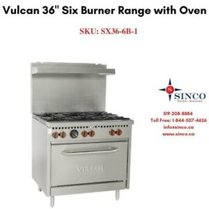 Vulcan 6 Burner Range with Oven 36 Canada Preview