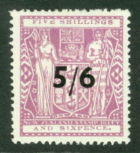 SG F214 New Zealand 56 on 56 lilac. Very lightly mounted mint CAT 70