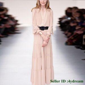 Occident-New-Runway-Fashion-Women-Long-Party-Belt-Style-Women-Dress