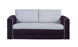 Details about Modern Modular Sofa Convertible Loveseat Futon 2 Tone High  Density Purple/Beige