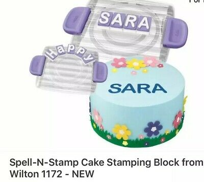 NEW Spell-N-Stamp Cake Stamping Block from Wilton 1172