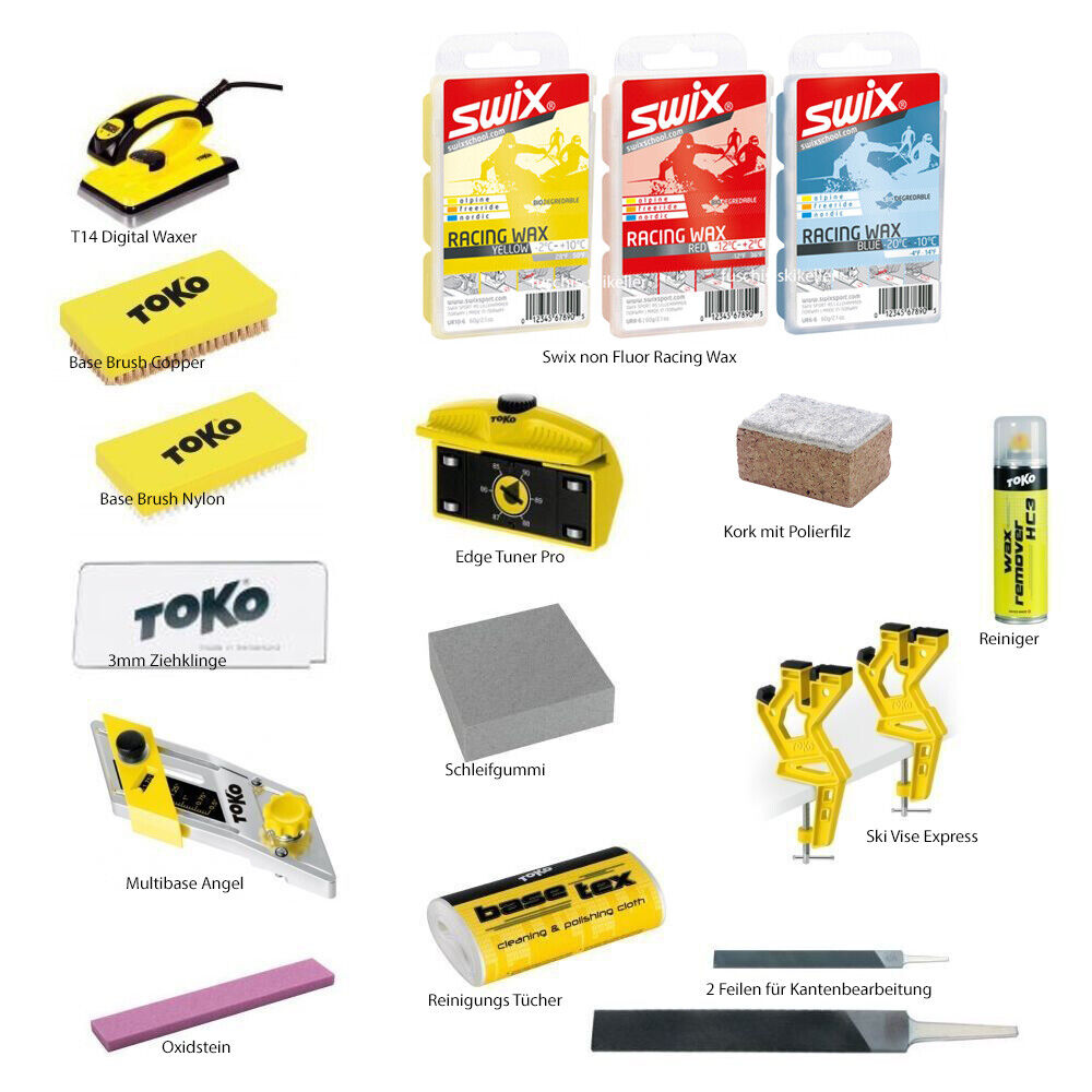 Toko Pro Skiwax Set 17-teilig with Iron Alpine - Nordic - Board
