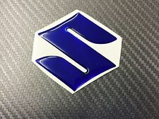 Adesivo Resinato SUZUKI 3D Blu Metal 45 mm