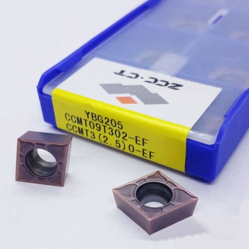 CCMT32.50.5-EF YBG205 CNC Carbide inserts 10 x ZCC.CT CCMT09T302-EF YBG205