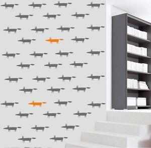 Autocollants Muraux Renards Pattern Set 32 Home Decor Art Amovible Vinyle Décor-afficher Le Titre D'origine Avoir Une Longue Position Historique