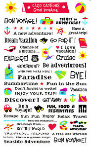 Mrs Grossmans Giant Stickers Card Captions Bon Voyage Vacation