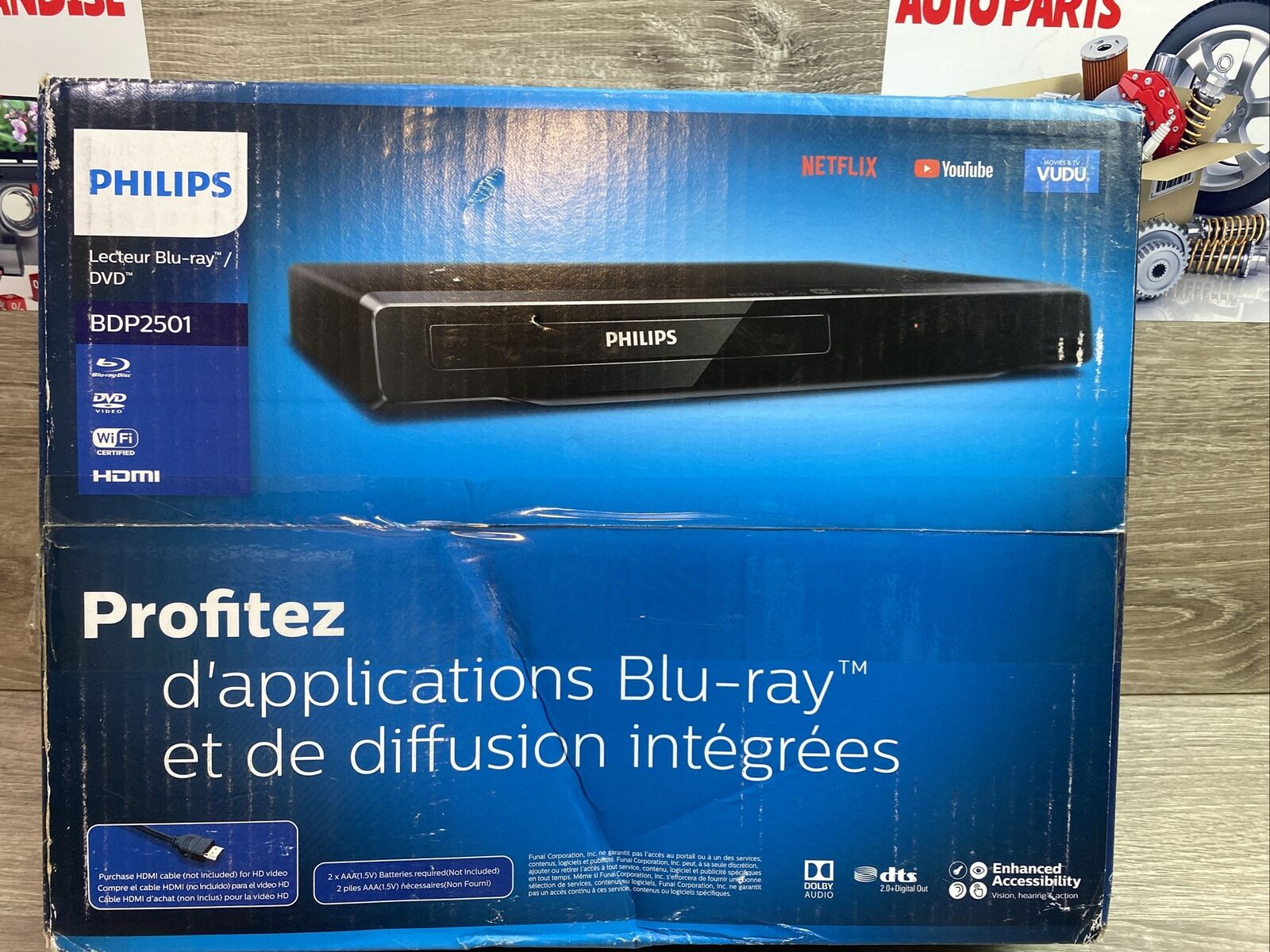 ✅Philips BDP2501/F7 Blu-ray / DVD Player WiFi Dolby Audio Streaming Apps Netflix apps audio dolby dvd netflix player streaming wifi