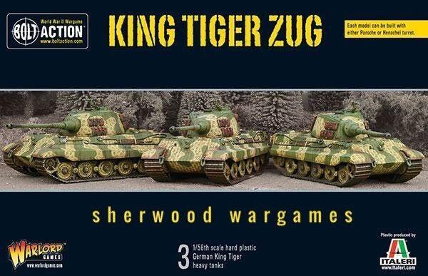 28mm Warlord spel Tyska kung Tiger Zug (3tankar) för Bolt Action BNIB, WWII