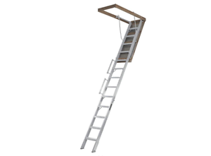 Louisville Ladder Everest 10 ft. 12 ft. 22.5 in. x 63 in. Aluminum Attic Ladder