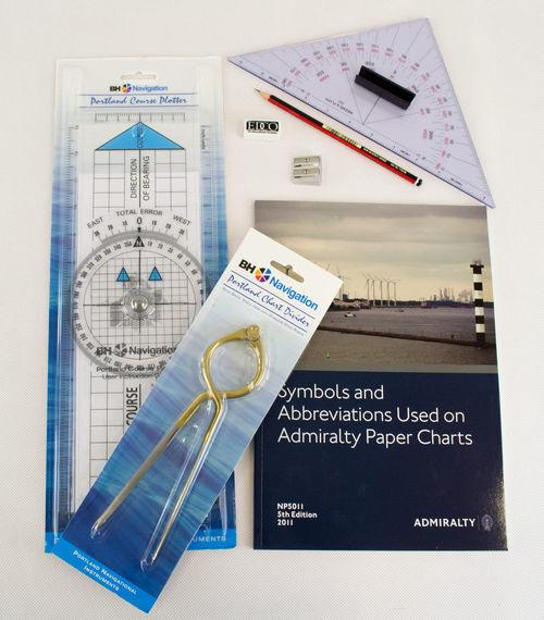Marine Navigation kit - Plotter, Dividers, Predractor, Symbols & Abbreviations