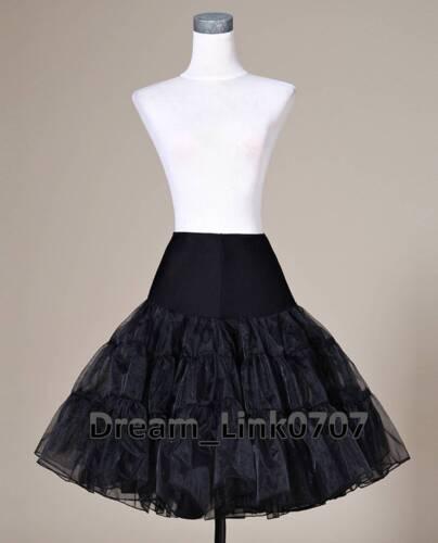 5 Colors Tea Length Dress Silps Crinoline Petticoat Short Skirts TUTU  UK Stock