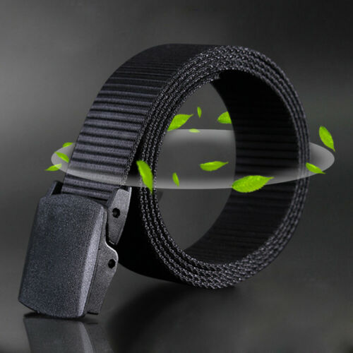 Canvas Web Belt for Man Airport-friendly Casual Style Non-Metallic Canvas Belt