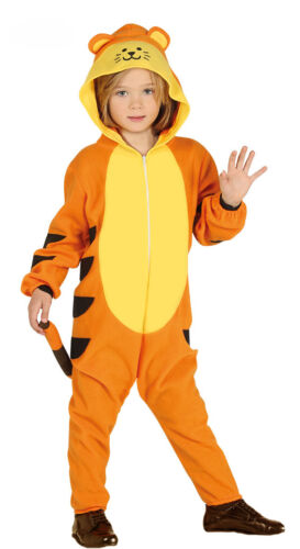 Kids Tiger Costume Fancy Dress Book Week Tigger Outfit Boys Girls New Age 34