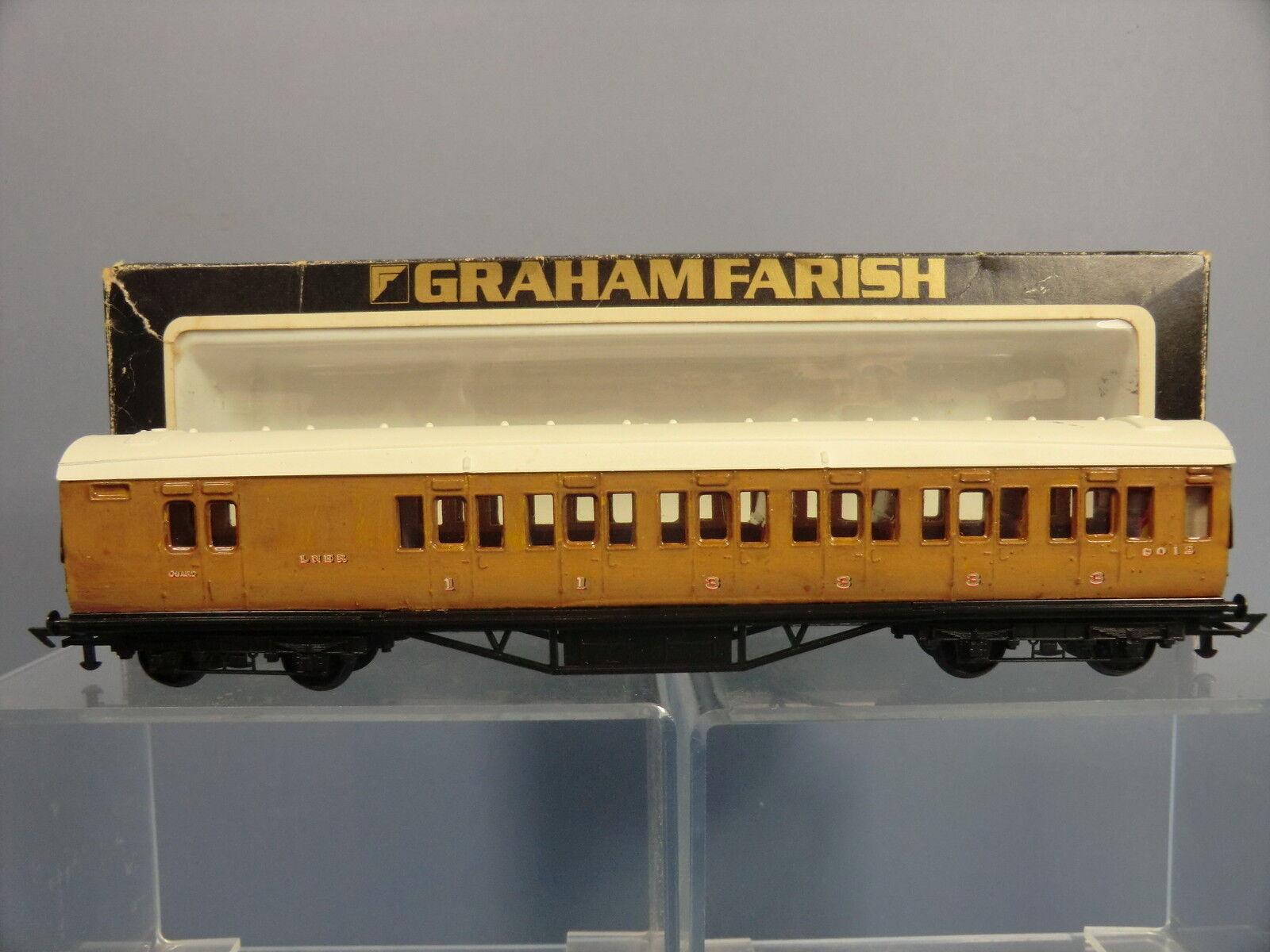 GRAHAM FARISH No.10632 LNER 1st  3rd Class MAIN LINE BRAKE END  CODE 3   VN  MIB