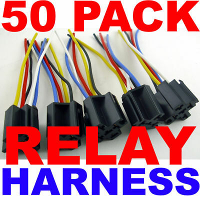 10 Pack Relay Harness 12 Volt 14//16 Awg 10 Pc Lot