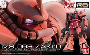 BANDAI RG 1/144 MS-06S ZAKU II Char's Custom Plastic Model Kit NEW from Japan