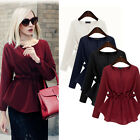 Fashion Women Long Sleeve Cotton Casual Loose Blouse Shirt Tops Blouse Plus Size