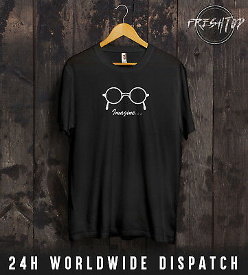 Instancabile John Lennon Imagine T Shirt Occhiali I Beatles Paul Mccartney Liverpool Pace-mostra Il Titolo Originale Attraente E Durevole