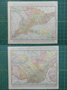 Ontario quebec vintage original 1895 rand mcnally world atlas map image is loading ontario quebec vintage original 1895 rand mcnally world gumiabroncs Choice Image