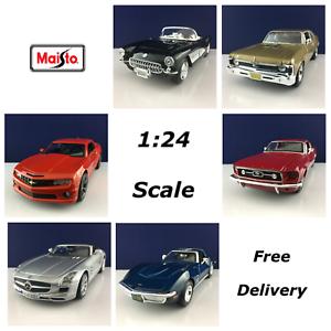 1-24-Maisto-escala-Diecast-Modelo-Seleccion-De-Coche-Marca-Nuevo-Entrega-Gratis