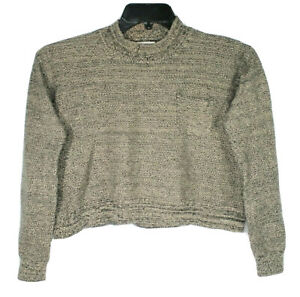 Levis-Womens-Juniors-Medium-Cropped-Highneck-Long-Sleeve-Pullover