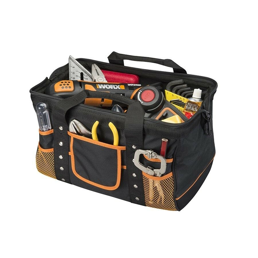 s l1600 - WA0076 WORX Zippered Tool Bag with Interior and Exterior Pockets
