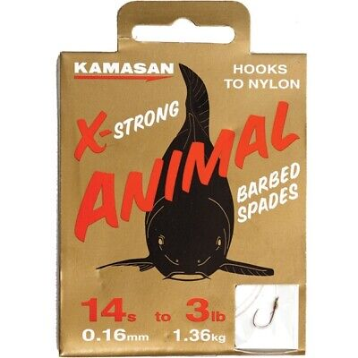 "DAIWA Barbed Hooks to Nylon Size 16 Pack of 10 Fishing match coarse 20/"" LENGTH"