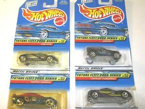 Future-Fleet-2000-Complete-Series-Set-Hot-Wheels-Die-Cast-Cars-Lot-of-4