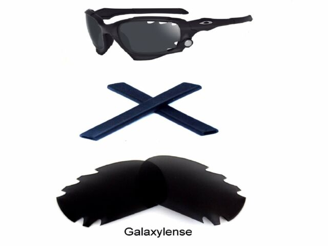 22cd6b68cb3 Galaxy Replacement Lenses Rubber Kits for Oakley Racing Jacket Black ...