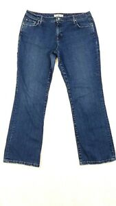 Tommy-Hilfiger-Hipster-Boot-Cut-Womens-Jeans-Size-16-Distressed-High-Waist-36X32