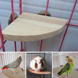 Wood-Parrot-Bird-Cage-Perches-Platform-Stand-Rack-Pet-Budgie-Hanging-Chew-Toy
