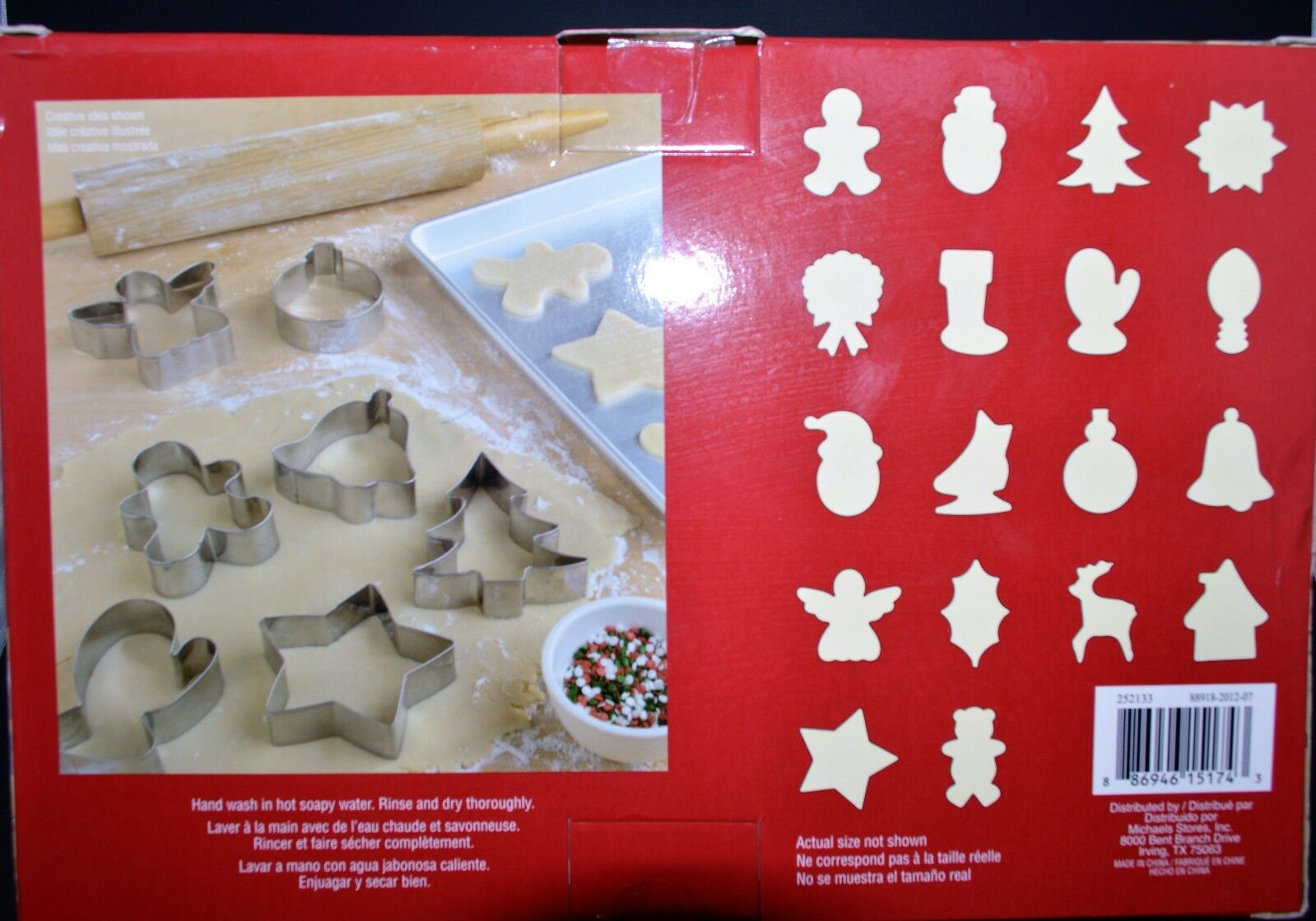 "1/"" Deep Star Christmas Tree Cookie Cutter 2/""//3/""//4/""//5/"" Taille"