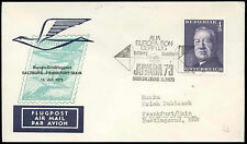 Austria 1973 FFC First Flight Cover, Salzburg-Frankfurt #C16835
