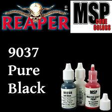 PURE BLACK 9037 -MSP core15ml 1/2oz paint pot peinture figurine REAPER MINIATURE