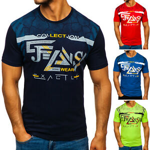 T-Shirt Tee Kurzarm Classic Rundhals Aufdruck Print Casual Herren BOLF 3C3 Motiv