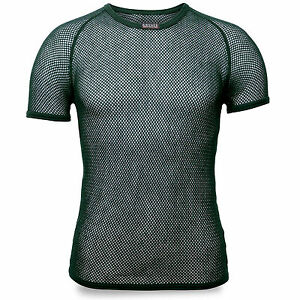 Brynje-Super-Thermo-Mesh-Warm-Thermal-Base-Layer-Underwear-Top-T-Shirt-Green-NEW