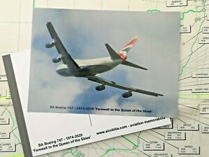 British Airways BOEING 747 Farewell to the Queen of the Skies SPECIAL POSTCARD