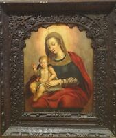 Fine Large 16th Century Italian Old Master Madonna & Child Antique Oil Painting