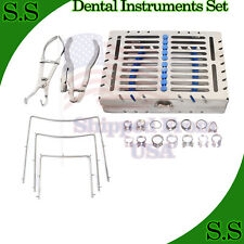 Rubber Dam With Frame Punch Clamps Cofferdam Set Dental Surgical Instruments
