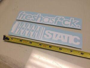 PICK COLOR! x2 Fresh as F*ck Static WHITE Sticker decal Car window jdm illest