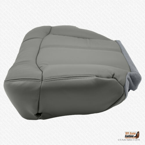 2001 2002 Chevy Tahoe LT Z71 Driver Bottom Leather Seat Cover Replacement Gray