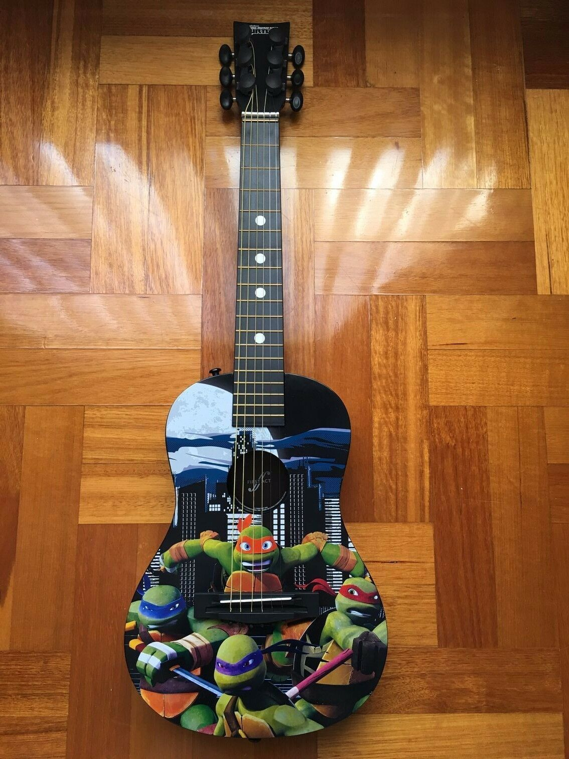 Teenager Mutant Ninja Turtle TMNT Acoustic First Guitar Musical Instruments Kids