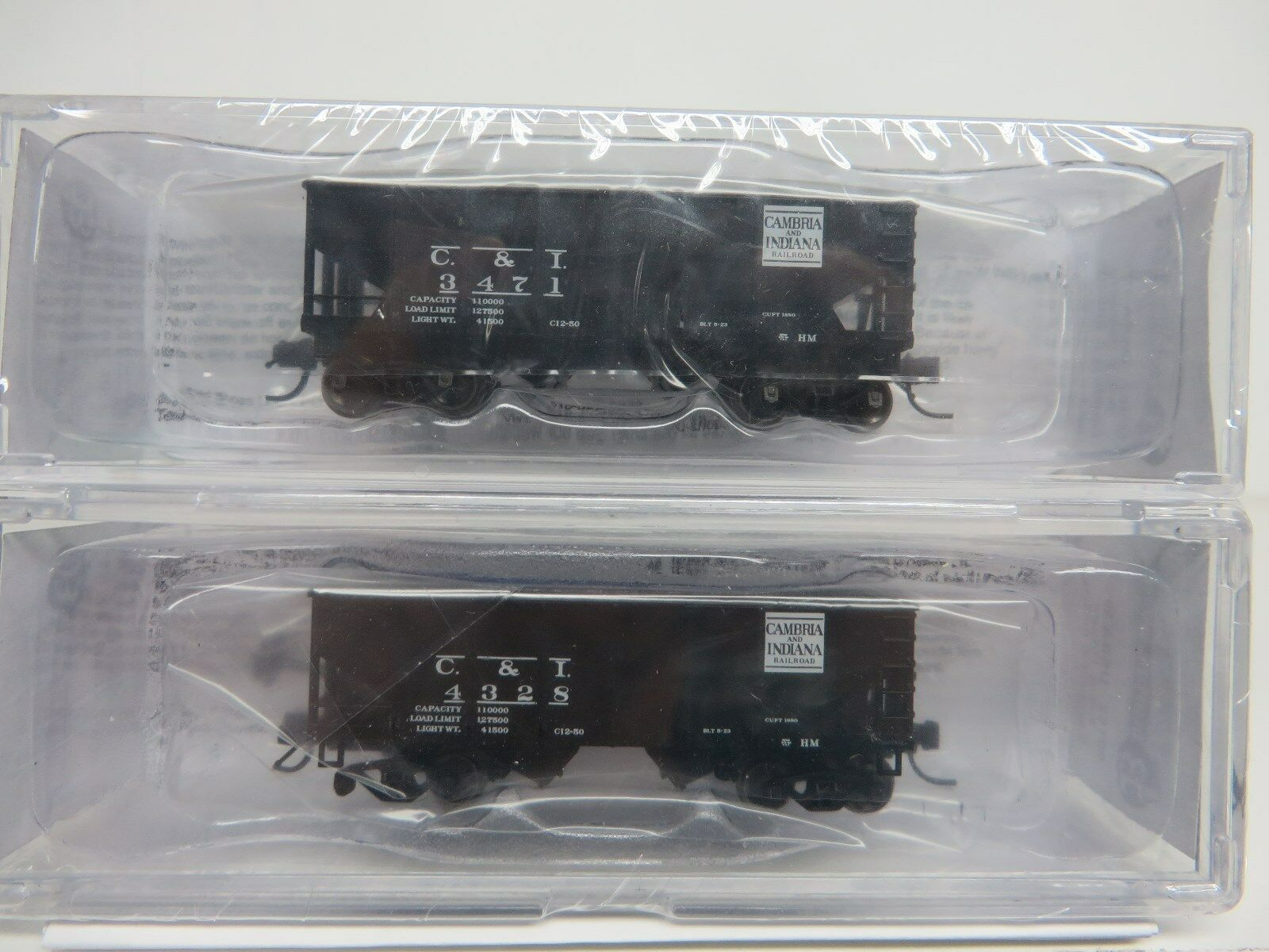 Buford Shops-N CAMBRIA & INDIANA 30' 6  Hopper Cars (2 Car Set   2 Car  's) NIB
