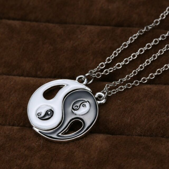 HOT Yin Yang Black White Pendant Necklace Couple Sister Friend love Jewelry New